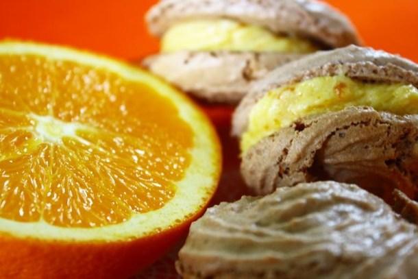 Μακαρόν με πορτοκάλι εικόνα