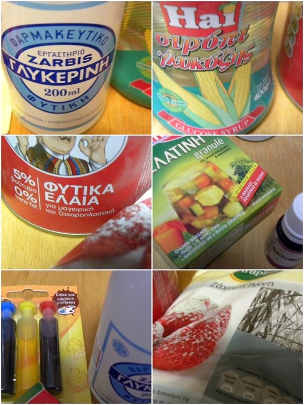 Υλικά της ζαχαρόπαστας εικόνα