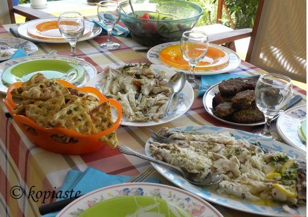 Μυλοκόπι και Τσιπούρα στο Φούρνο αλά Μπριάμ