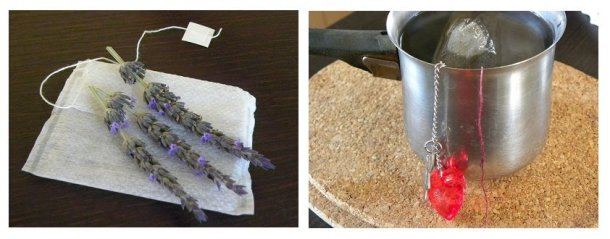 Collage lavender tea