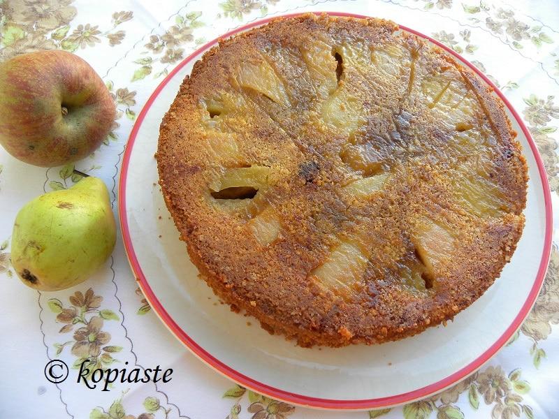 αναποδογυρισμένο-κέικ-με-μήλα-και-αχλάδια