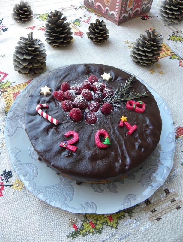 Σοκολατένιο Κέικ Βασιλόπιτα αμυγδάλου εικόνα