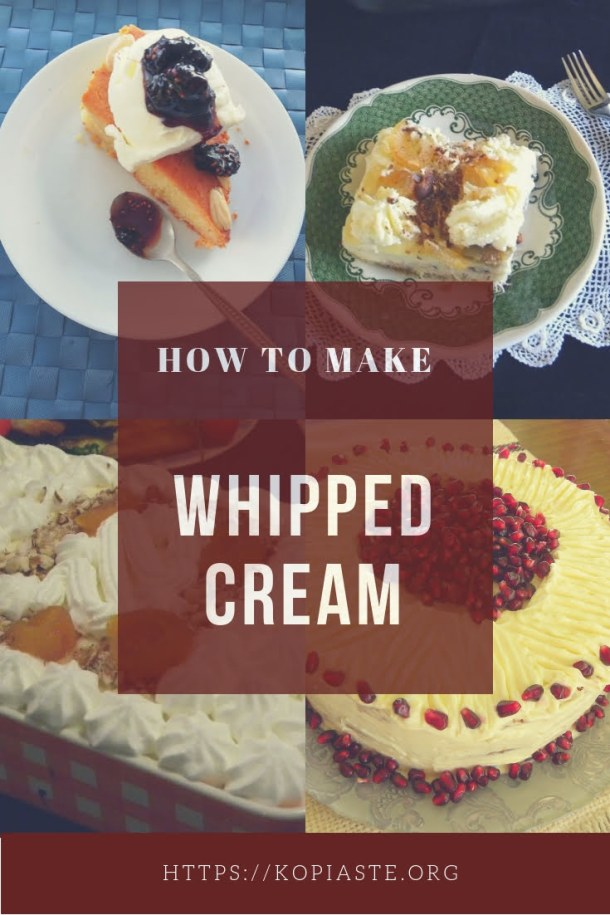Collage how to make Whipped cream image