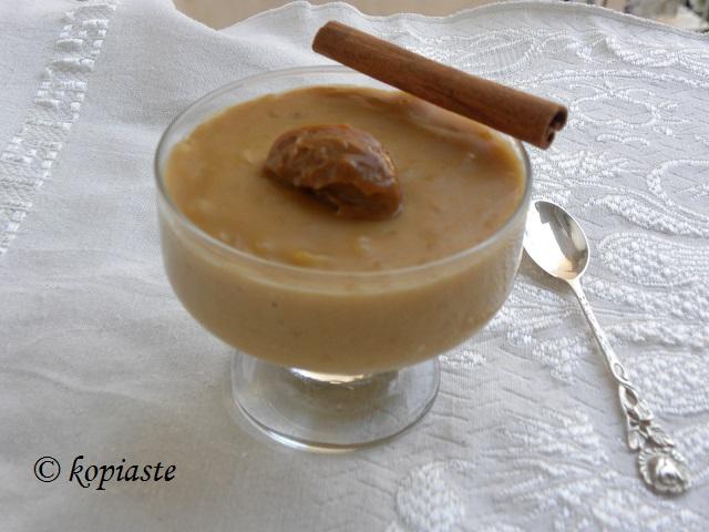 Dulce de leche ryzogalo served with dulce de leche