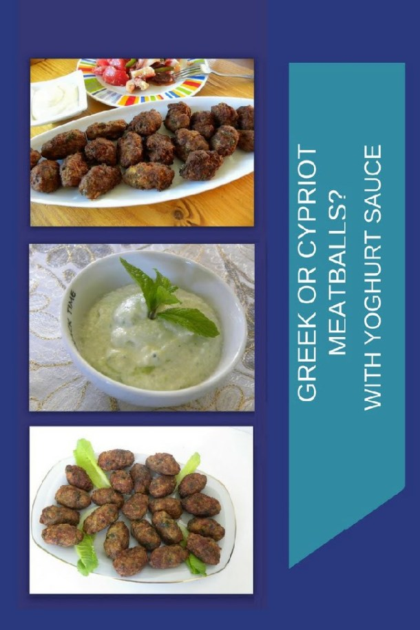 Collage Greek or Cypriot meatballs image