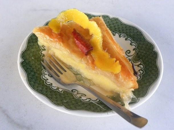 Galaktoboureko with lemon and cinnamon image