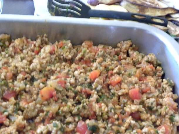 Moussakas meat sauce image