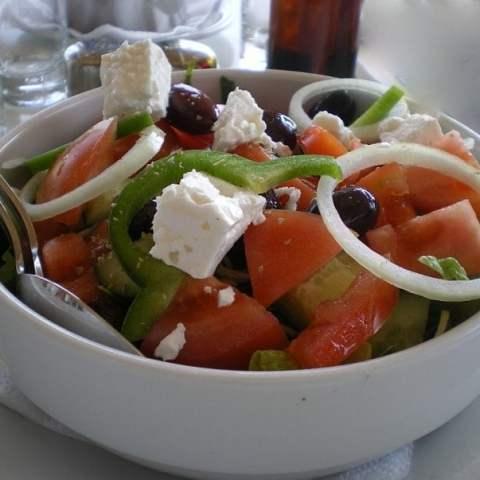 Horiatiki Salata (Greek village Salad)