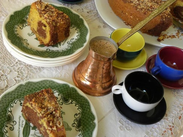 Cake with Greek Coffee image