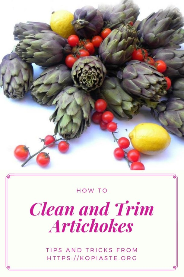 Collage How to clean an Artichoke image