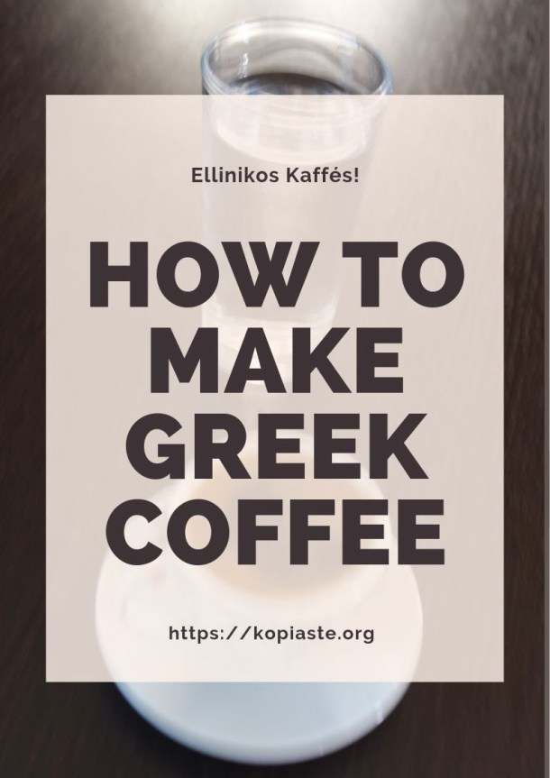 How to make Greek Coffee image