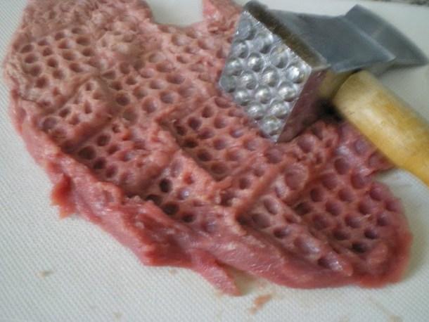 Pounding Wiener schnitzel image