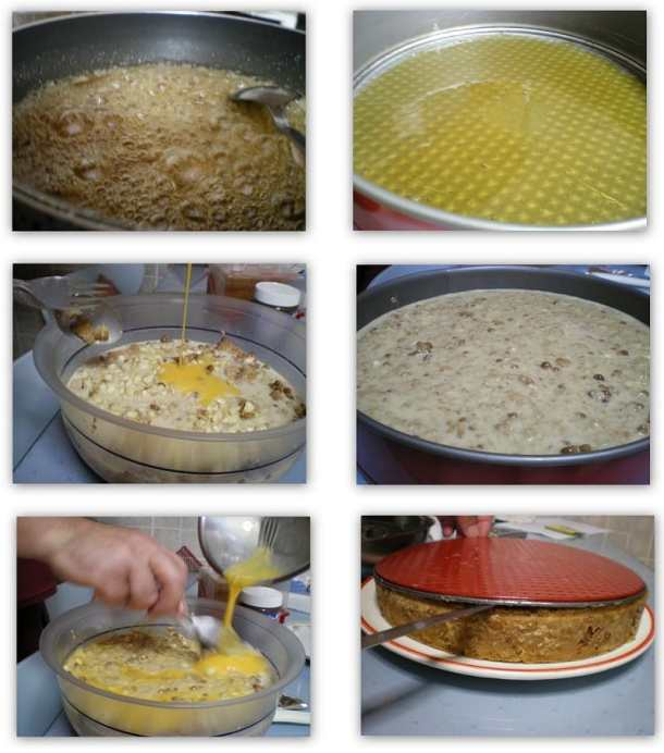 collage caramel biscuit pudding image