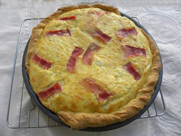 Feta and Graviera Quiche image