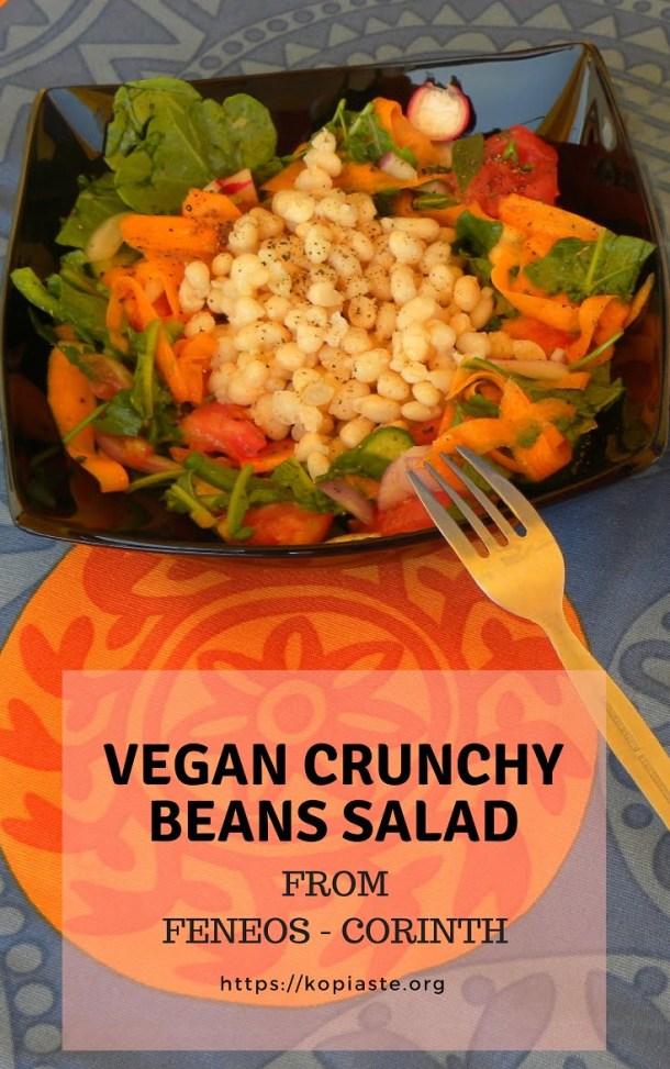 Collage Vegan Crunchy Bean Salad Image