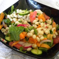 Vegan Crunchy Bean Salad