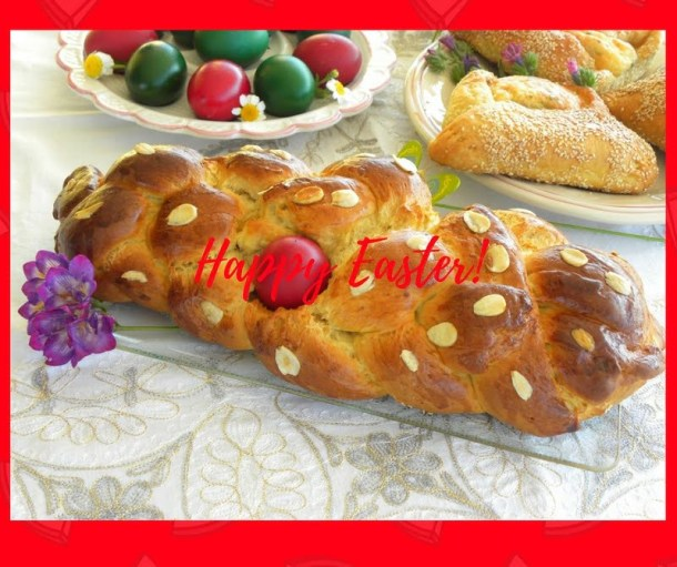 Happy Easter tsoureki image