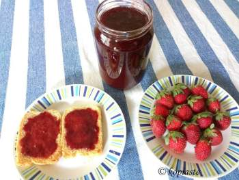 strawberry jam image