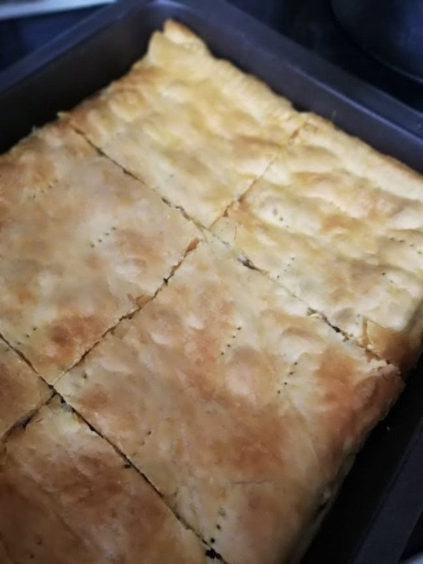 baked lamb pie with puff pastry image