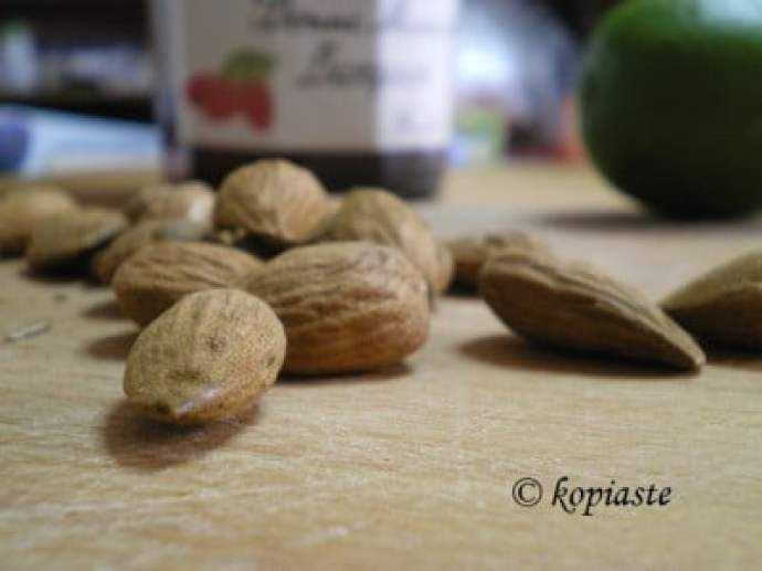 almonds raspberry jam and lime