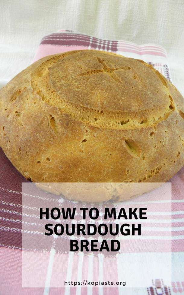 Collage how to make sourdough bread image