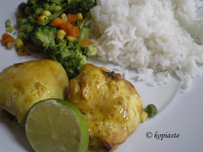 Marinated Grilled Indian Chicken