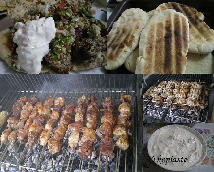 COLLAGE SOUVLAKIA PITA