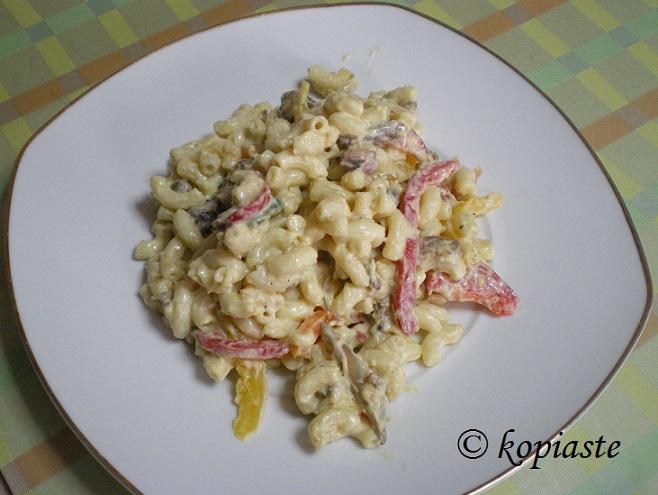 Octopus pasta salad