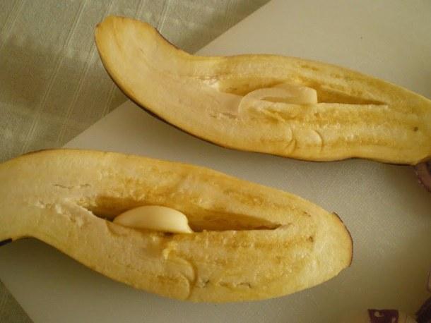 eggplants with garlic image