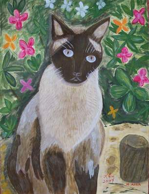 my cat LIZA PAINTING 2