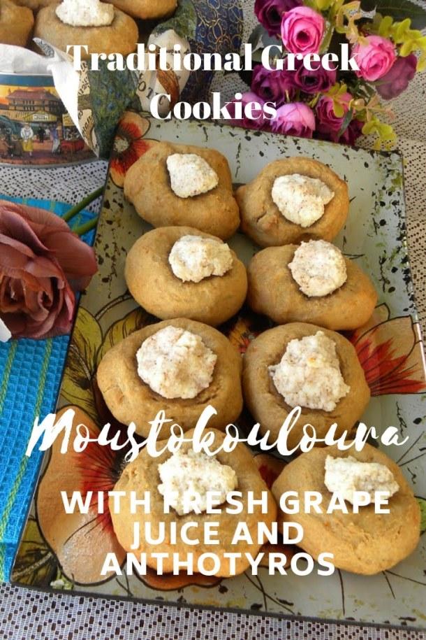 Moustokouloura with fresh grape juice and anthotyros image