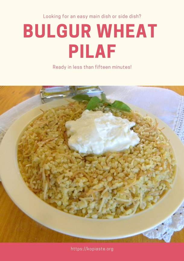 collage Bulgur Wheat Pilaf Pourgouri photo