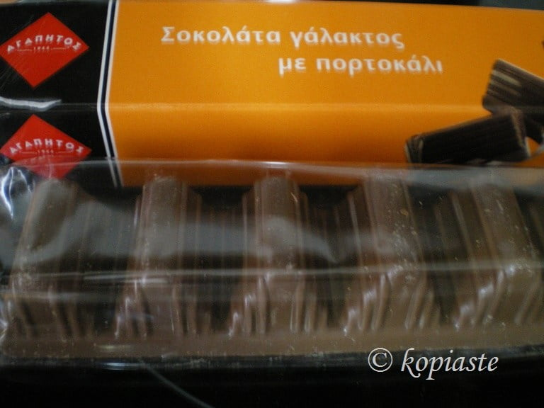 orange flavoured chocolate