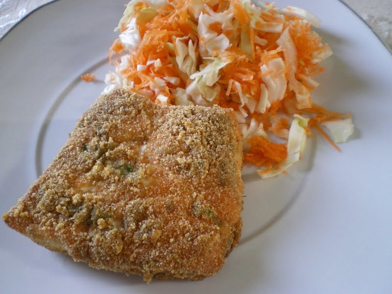 Salmon with cabbage salad image