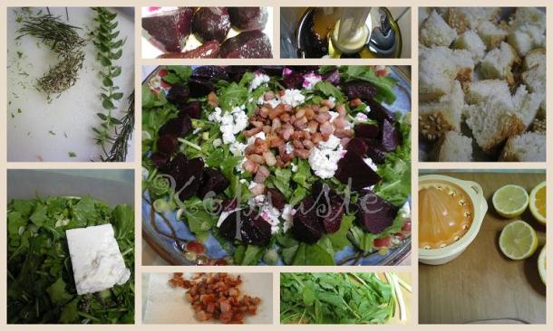collage winter panzanella salad image