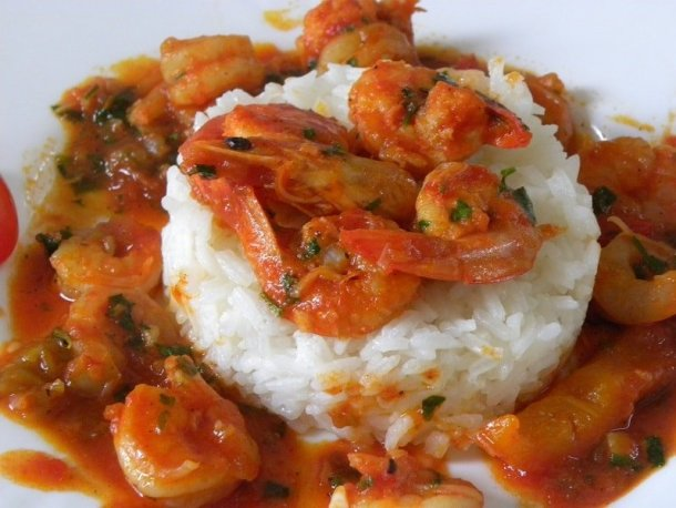 Garides with rice pilaf image