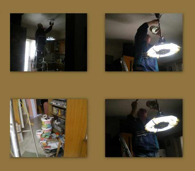 collage painting kitchen