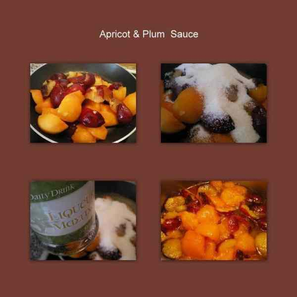 collage apricot and plum sauce