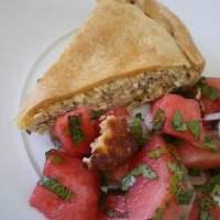 Tyropita me Maratho  (Cheese and Fennel Pie)