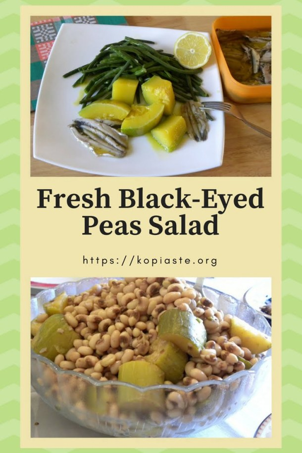 Fresh black-eyed peas salad picture