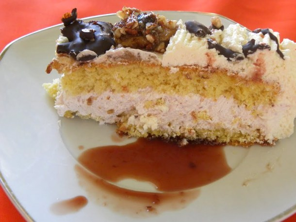 Spicy White chocolate cake cut image
