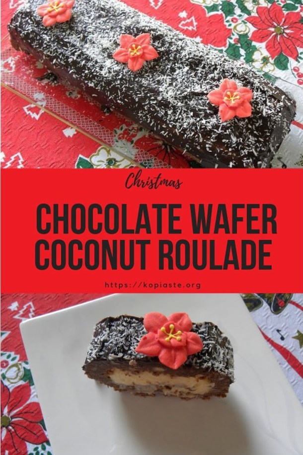 Collage Christmas Chocolate Wafer Roulade image