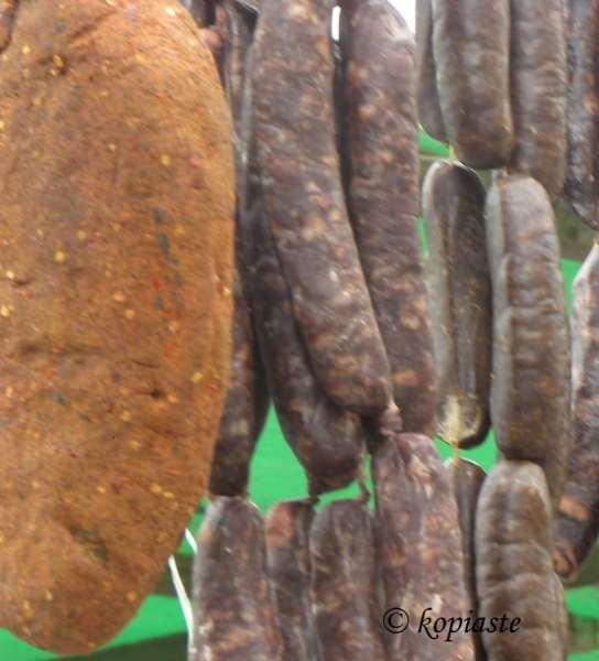 pastourmas and sausage