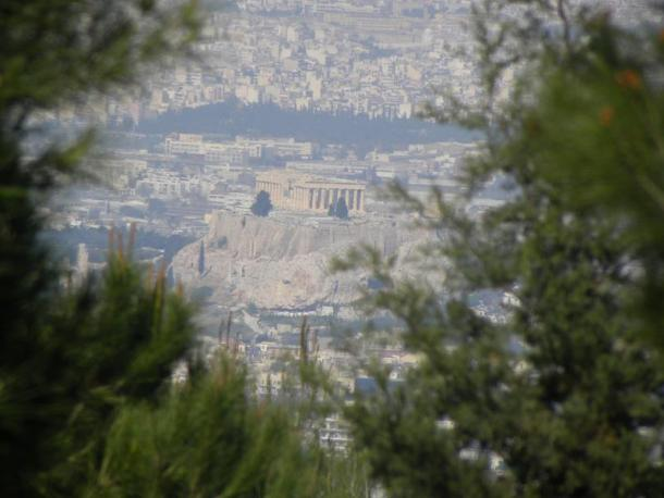 Athens view of the Acropolis 2