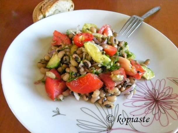 Mavrommatika with avocado image