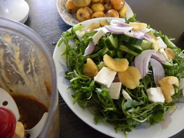 Rocket Salad with loquats image