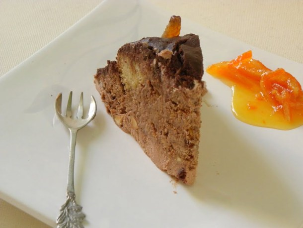 Chocolate black lava gateau served image