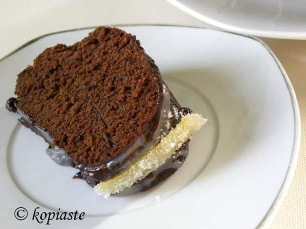 Piece of cake with candied lemon