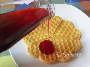waffles with pomegranate syrup image