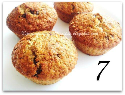 7 Grapefruit, oats & chocolate chip muffins, by Priya